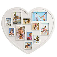 11 изображений Сердце Форма семьи фоторамки держатель стены висит украшение изображения
