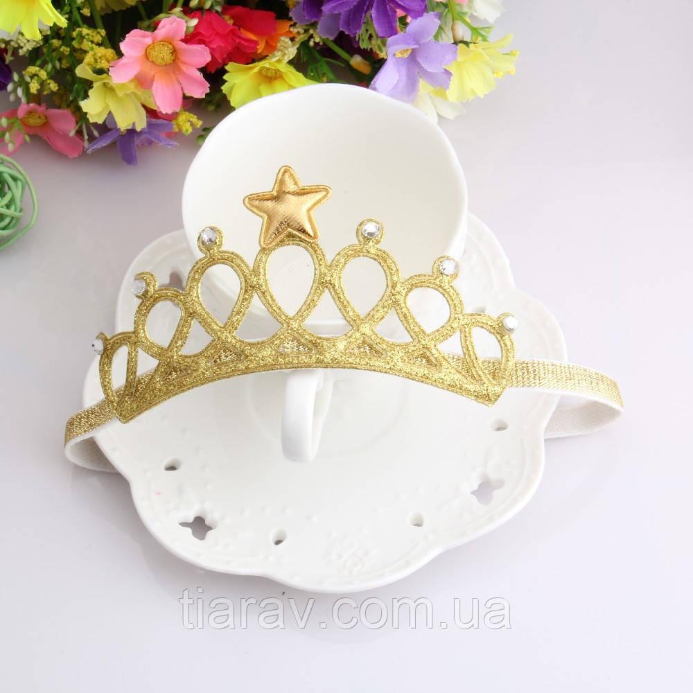Детская повязка для волос на голову тиара корона повязка для девочки украшения для волос