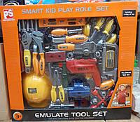 """Игрушечные инструменты  """"Emulate tool set"""" для юного строителя"""