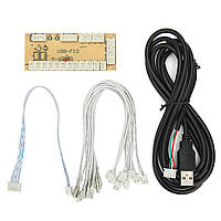 Zero Delay USB Encoder Arcade PC 5Pin Джойстик для проводки Happ Кнопки Cable Games