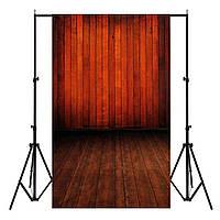 3x5FT Виниловая красная деревянная настенная фотосъемка Фоновые фоны Photo Studio Prop