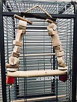 Деревянная качеля для больших попугаев, фото 1