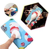 Bakeey™Cartoon3DSquishySqueeze Slow Rising Polar Bear Seal Мягкий ТПУ Чехол для iPhone 6&6s 6sPlus