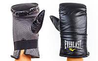 Снарядные перчатки Кожа EVERLAST (черный) L (23-24 cм)