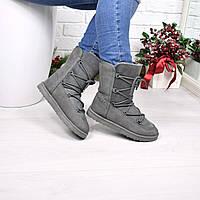 Угги женские Lems серые 3951, зимняя обувь