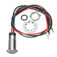 12V 8mm Двойной цвет LED Контрольная лампа индикатора панели управления приборной панелью мотоцикл Авто Лодка Грузовик