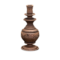"""Підсвічник ваза ручної роботи глиняний """"Селянський"""""""