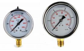 """Манометр радиальный (глицериновый) DN 100 G 1/2""""  10 bar Italmanometry (Италия)"""