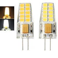 G4 2.5W SMD2835 20LEDs Теплая белая Чистая белая лампа AC / DC12V
