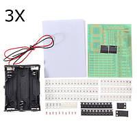 3PcsHKT002SMDПайкаPracticeBoard Электронные компоненты DIY Обучение Набор