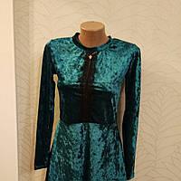 Платье молодежное стрейч велюр   и бархат
