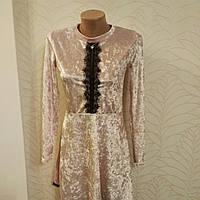 Платье молодежное стрейчвелюр и бархат