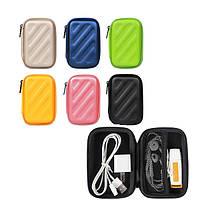 PU Коробка Пакет для хранения Чехол Форма прямоугольника для кабельного зарядного устройства для кабеля для пальцев Наушник