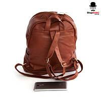 Рюкзак женский АА-923, рыжий, экокожа, заклепки