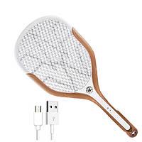 USB Быстрая зарядка Электрический москит Fly Pest Killer Zapper Racket с тремя лампами LED
