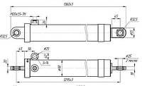 Гидроцилиндр телескопический стогометателя ПКУ-0,8; СНУ-550; ПСБ-800 (укороченный)
