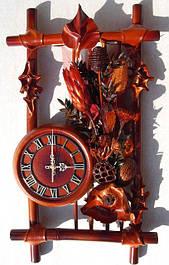 Настенные часы из кожы