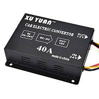 Авто Авто Автомобиль 40A DC 24V до 12V Эффективный источник питания Инвертор Трансформатор Электрический преобразователь