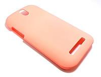 Чехол пластиковый HTC T326e Desire SV, PM6100 розовый (матовый)
