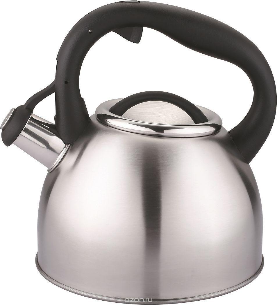 """Чайник Cs-Kochsysteme """"Bonn"""", со свистком, цвет: серый металлик, 2,5 л"""