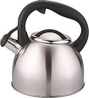 """Чайник Cs-Kochsysteme """"Bonn"""", со свистком, цвет: серый металлик, 2,5 л, фото 1"""