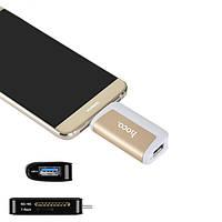 HOCO HB4 USB 3.0 Type-C SD TF Card Reader OTG конвертер для Samsung S8 Note 8 Xiaomi 6 Macbook