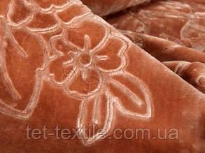 Плед акриловый с тиснением Elway персиковый (200х240), фото 2