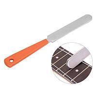 Guitar Fret Crowning Luthier File Нержавеющая сталь Узкие двойные режущие кромки Инструмент