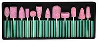 Набор керамических фрез для маникюра, 12 шт (Камень)