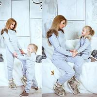Детский теплый спортивный костюм с начесом на девочку
