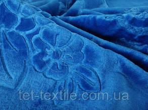 Плед акриловый с тиснением Elway синий (200х240), фото 2