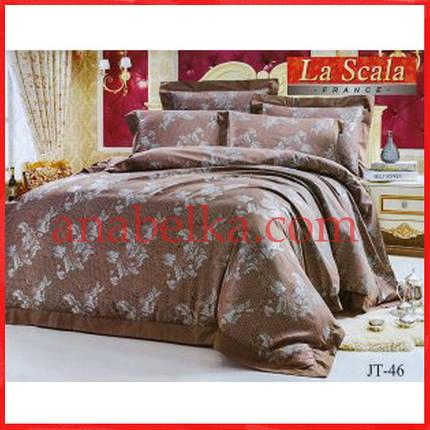 Постельное бельё шёлковый жаккард JP-46 (La Scala), фото 2