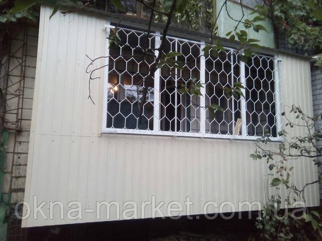 Обшивка балконов профнастилом Киев пр. Лесной 24