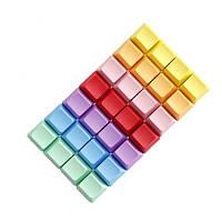 4 штук a Набор пустых R1 R2 R3 R4 Многоцветный PBT Толстый OEM-профиль Keycaps для Механический Клавиатура