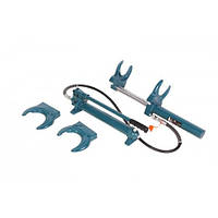 Стяжка пружин гидравлическая с выносным насосом и двумя комплектами получаш (макс. усилие 1т, рабочий диапазон