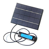 3,5 Вт 5V 130 * 165 мм Солнечная Панельная зарядка с 18650 Батарея Чехол