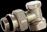 """Кран радиаторный ASCO Armatura 1/2"""" запорный угловой под ключ, наружная/внутренняя резьба"""