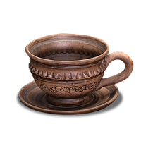 Набір кавових горнят з глини ручної роботи 0.15л
