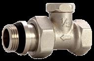 """Кран радиаторный ASCO Armatura 1/2"""" запорный прямой под ключ, наружная/внутренняя резьба"""