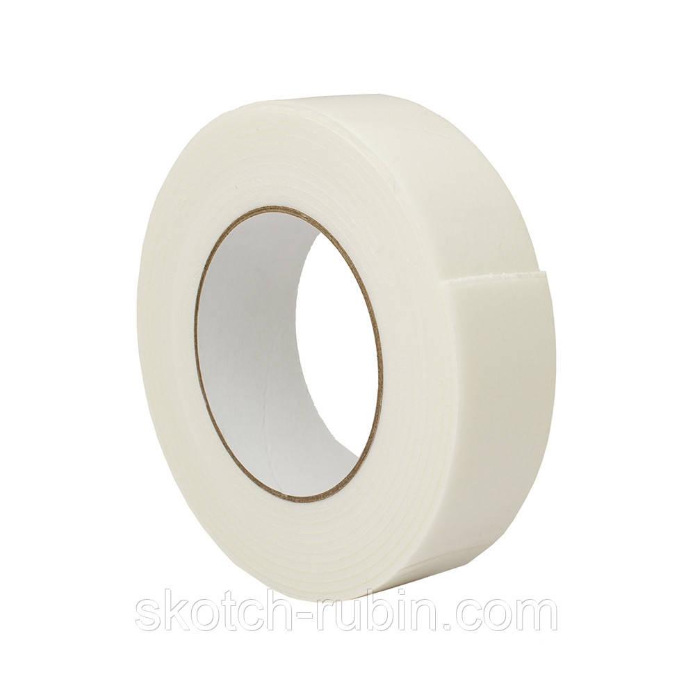Скотч вспененный двухсторонний Rubin 36 мм х 5 м х 2 мм белый