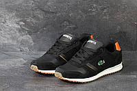 Замшевые мужские кроссовки Lacoste, черно-белые