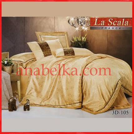 Постельное бельё шёлковый жаккард с вышивкой  3D-105  (La Scala), фото 2