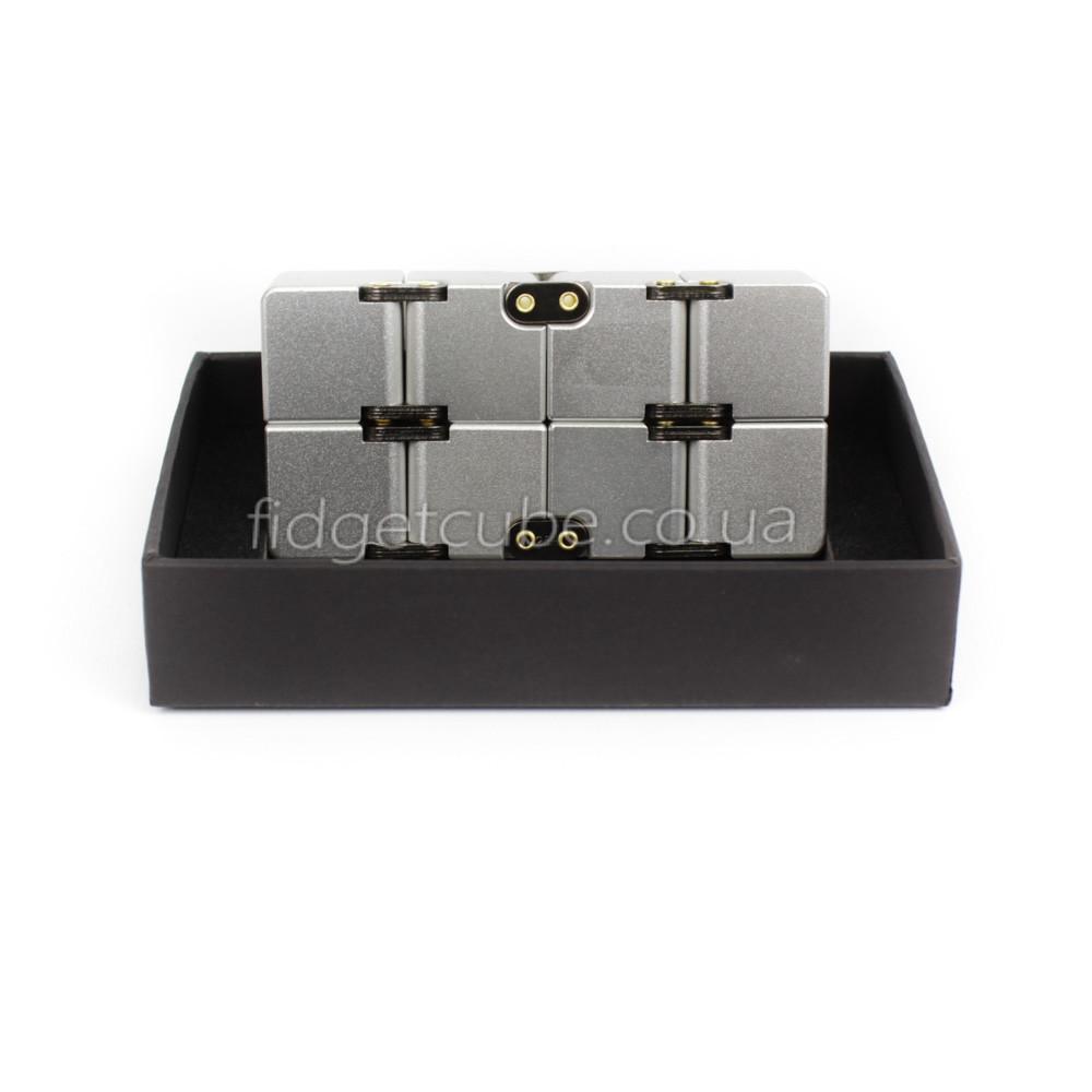 Infinity cube - инфинити куб - Fidget toy серый цвет 9801-1