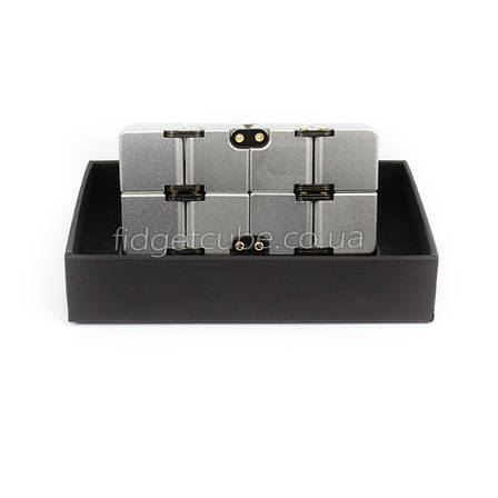 Infinity cube - инфинити куб - Fidget toy серый цвет 9801-1, фото 2