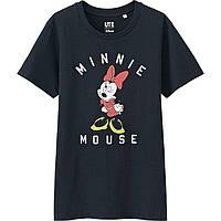 "Черная футболка ""Minnie Mouse"" Uniqlo"