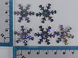 Пайетки Снежинка (серебро голограмма), Ø 23мм, (10шт./уп). №19, фото 2