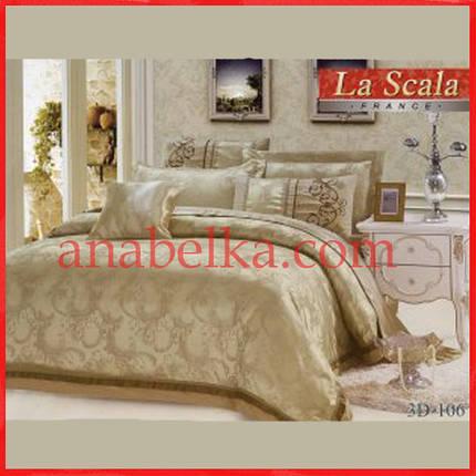 Постельное бельё шёлковый жаккард с вышивкой  3D-106  (La Scala), фото 2