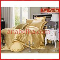 Постельное бельё шёлковый жаккард с вышивкой  3D-111  (La Scala)