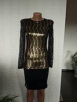 Нарядное платье гепюр с золотом