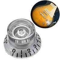 1PC Серебряный Пластиковый Электрический Гитарный Голос Скорость Ручки Скорости для Les Paul Guitar